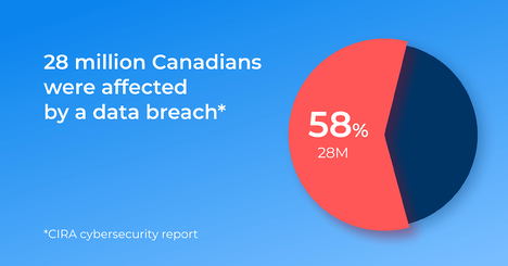 Pie Chart: 28 Million Canadians Were Affected By A Data Breach